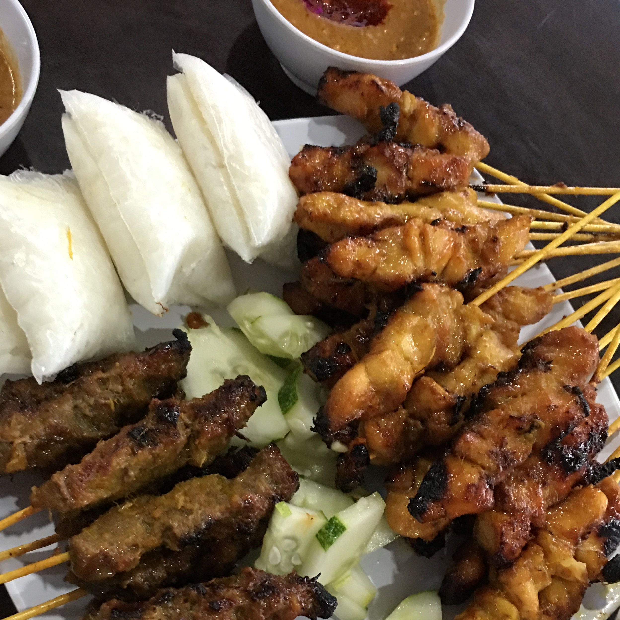 Recent satay recommendation by a friend